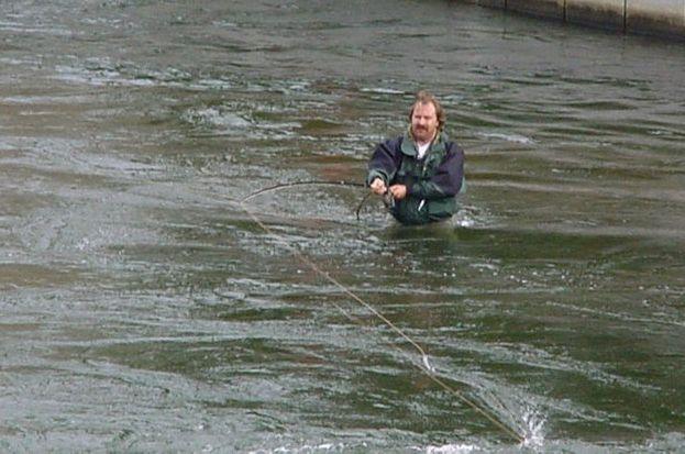 Fliegenfischen im Herzen Stockholms